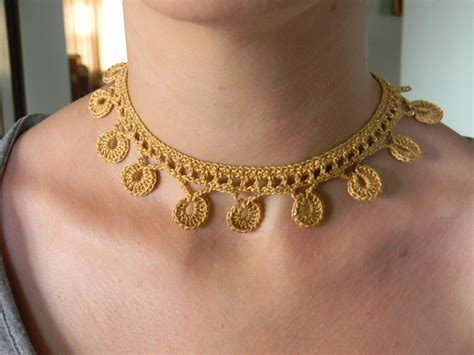 old pattern gold necklace crochet necklace pattern pdf for golden coins