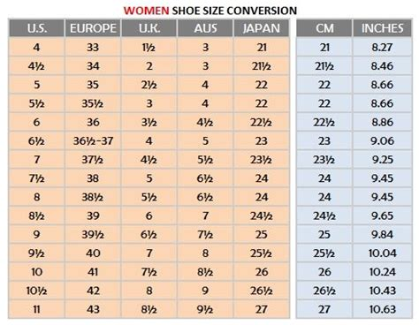 shoe size to womens s shoe size conversion chart search
