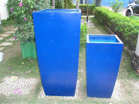 blue planter fancy outdoor square planters with toulan planter