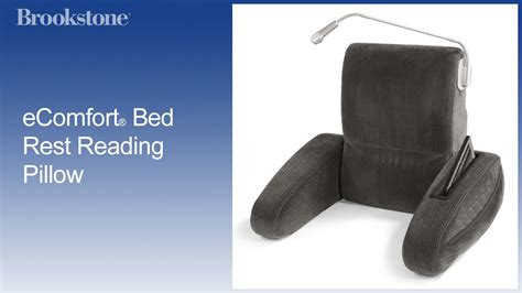 ecomfort bed rest reading pillow ecomfort 174 bed rest reading pillow youtube