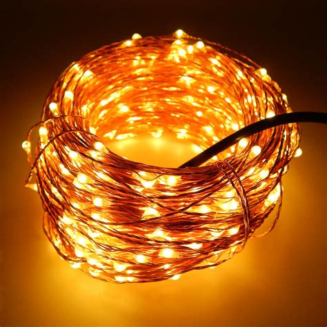 6 Colors 50m 165ft 500 Leds Copper Wire Warm White Led Warm Led String Lights