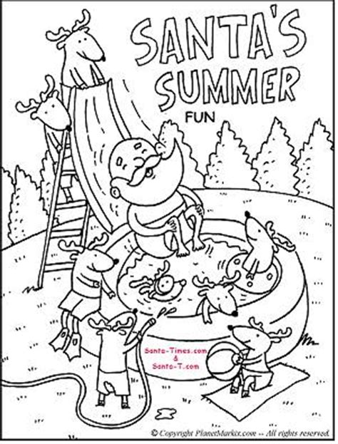 summer santa coloring page fun christmas activities and holiday printables