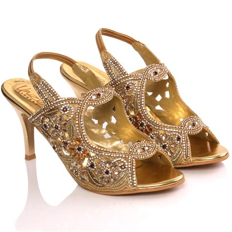 gold sandals for wedding unze womens tanu adorn bridal wedding sandals size