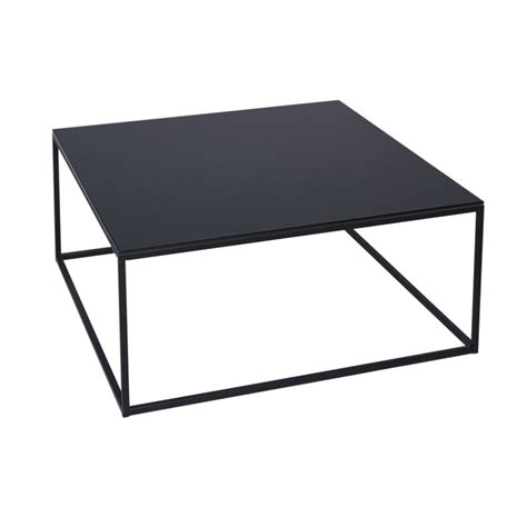 black metal and glass coffee table buy black glass and metal square coffee table from fusion
