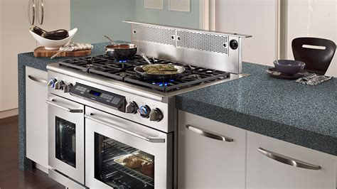 cooktop stove with downdraft jenn air black 30 gas