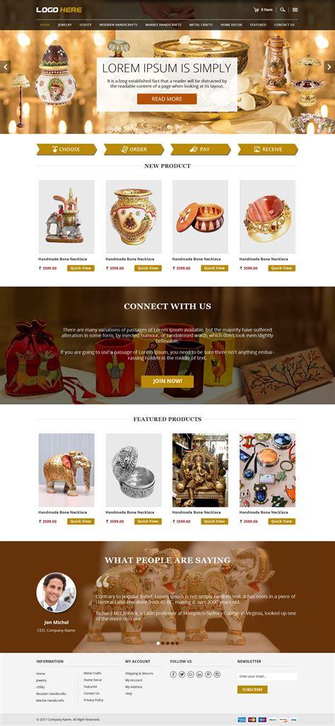 templates for handicrafts website handicraft e commerce website theme template free psd
