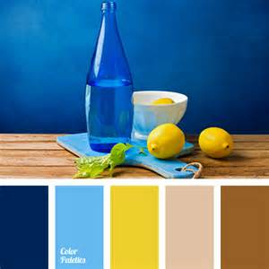 blue and yellow color scheme beige and brown color palette ideas