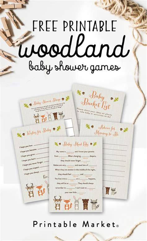 printables for baby shower free woodland fox baby shower printable games fox baby