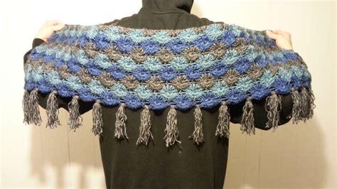 youtube tutorial shawl crochet bavarian stitch shawl scarf wrap tutorial how to