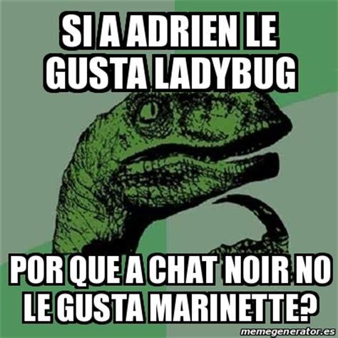 Chat Memes - meme filosoraptor si a adrien le gusta ladybug por que a