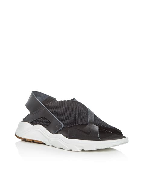 nike sandals for lyst nike s air huarache ultra sandals in black