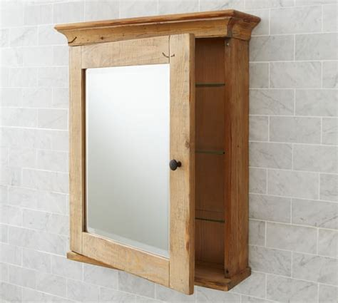 Mason Reclaimed Wood Wall Mounted Medicine Cabinet Wax Wood Bathroom Medicine Cabinets With Mirrors
