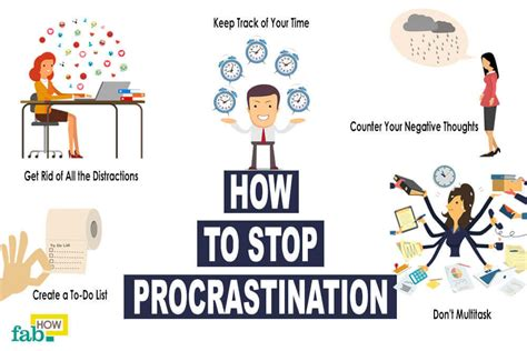 how to to stop how to stop procrastinating 30 helpful tips fab how