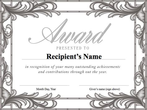free award certificate templates for students free printable formal award templates for students v m d