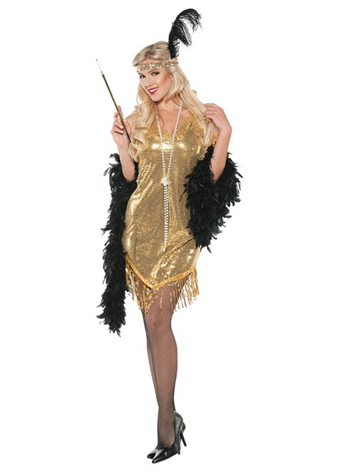 swingin gold flapper women costume  costumes