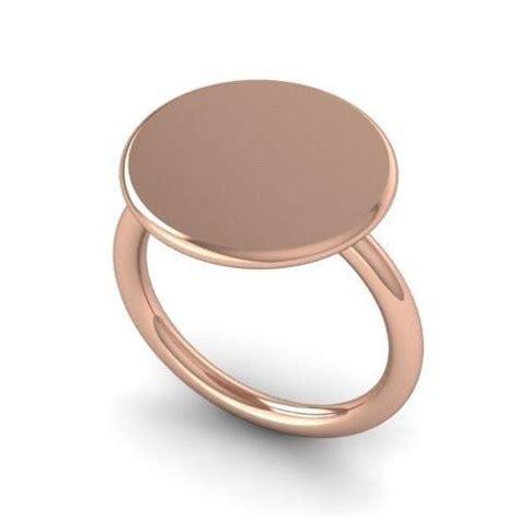 15mm 9 carat gold signet ring signet circle