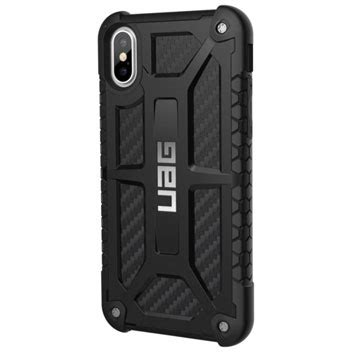 Uag Monarch Iphone X Carbon Black Original uag monarch premium iphone x protective carbon fibre mobilefun india