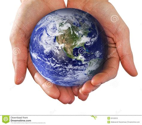 Earth House Plans by Human Hand Holding The World In Hands Stock Photography
