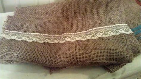 burlap table runners vintage roundabout