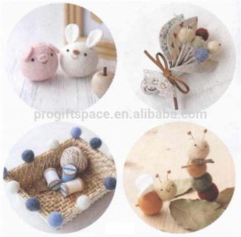 making of home decorative items wholesale high quality handmade 2cm 100 wool felt ball