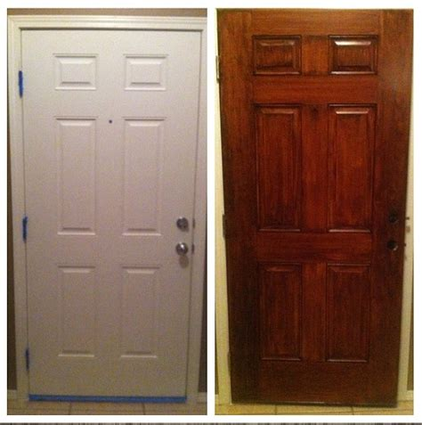 How To Varnish Interior Doors by Gel Stain Did Wonders For Our Plain White Door Gel Stain