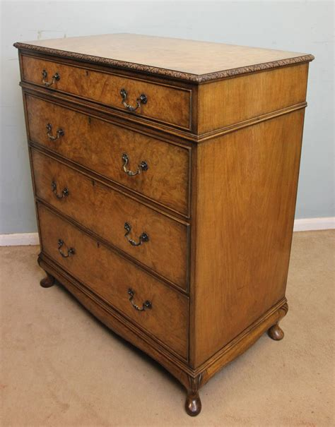 walnut chest of drawers bedroom antique victorian georgian edwardian furniture the
