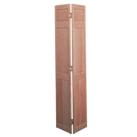 home depot solid core masonite smooth 6 panel solid unfinished pine interior bifold closet door 584655 at the