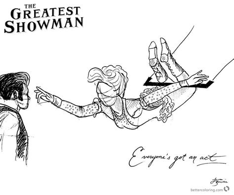 the greatest showman coloring pages pictures to pin on