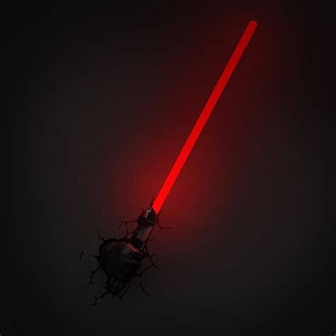 Lightsaber Wall Light by Wars The Awakens Darth Vader With Light