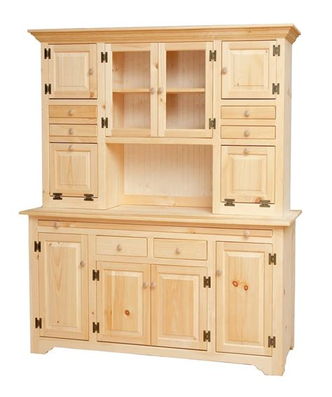 Kitchen Furniture Hutch Primitive Furniture Hoosier Large Hutch Decor Country Kitchen Cottage Pine Wood Ebay