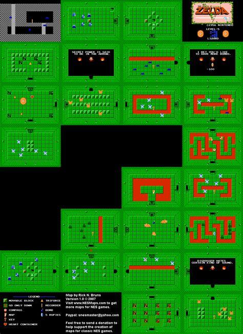 legend of zelda maps nes cheats the legend of zelda level 05 quest 1 map png