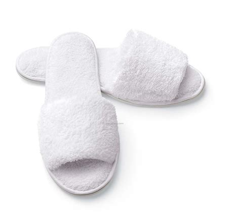 white slippers s open toe microfiber terry cloth slippers china