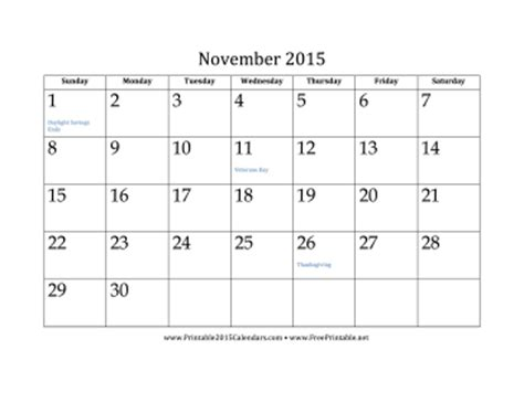 free printable monthly calendars november 2015 printable november 2015 calendar