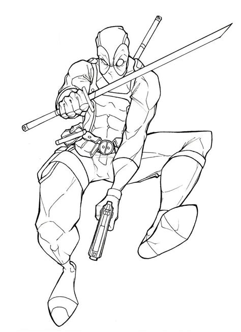 deadpool coloring pages printable printable deadpool coloring page 11550 bestofcoloring com