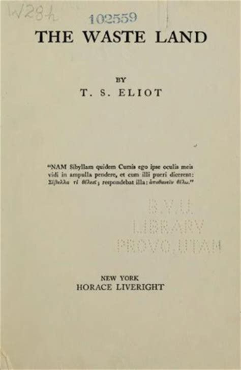 libro the waste land norton el comienzo de la tierra bald 237 a de t s eliot estandarte