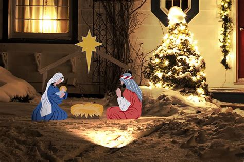 christmas lighted nativity sets christmas lights card