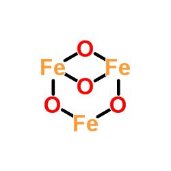 lewis dot diagram of iron iron ii iii oxide fe3o4 chemspider