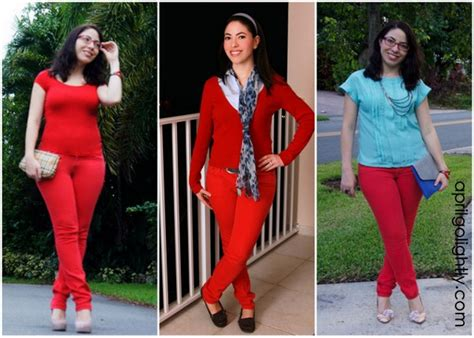 what goes with red 3 ways to wear red jeans april golightly
