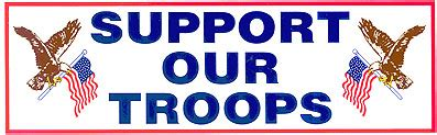 lets troops support our troops bumper sticker