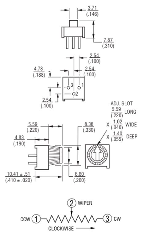 breadboard potentiometers modern device