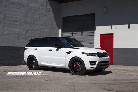 black land rover with black rims range rover sport adv5 2 m v1 sl gloss black wheels