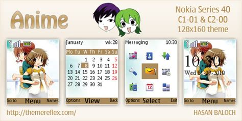 themes nokia x2 01 anime anime theme for nokia c1 01 c2 00 themereflex