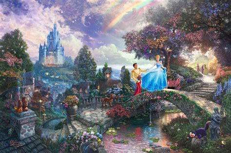 cinderella painting kinkade s disney paintings cinderella walt