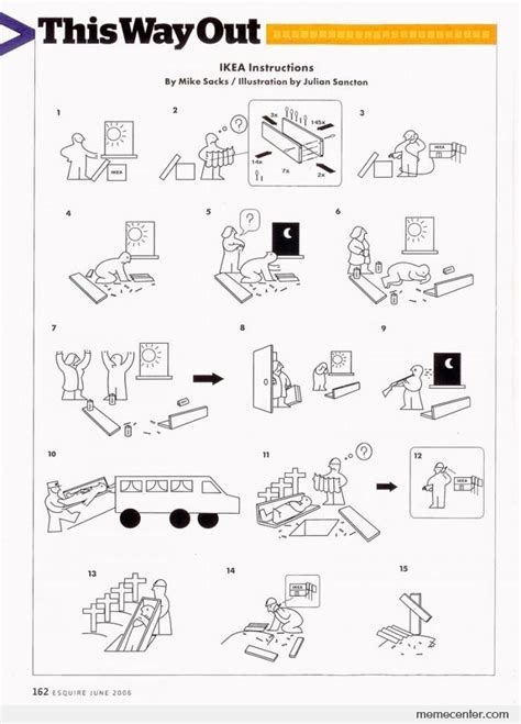Ikea Instructions Meme - ikea instructions by ben meme center