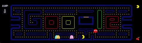 doodle do pacman anivers 225 jogo pacman chega aos 30 anos