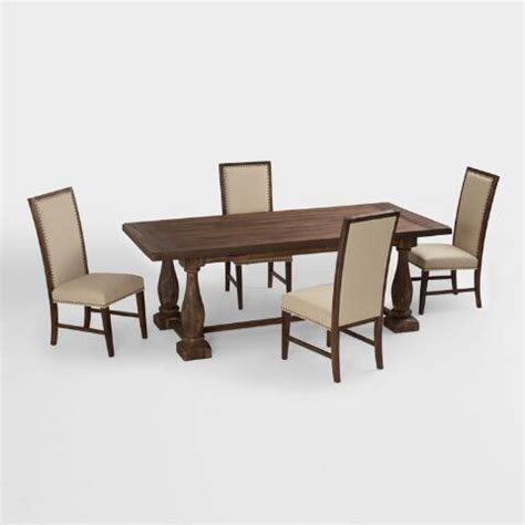 Greyson Dining Table Rustic Java Greyson Fixed Dining Table World Market