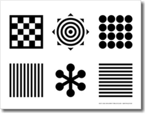 black and white pattern books for babies black and white infant visual development stimulation card
