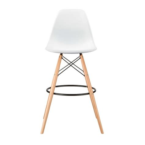 bar stools wooden legs set of 2 eames style dsw white plastic 30 inch bar stool