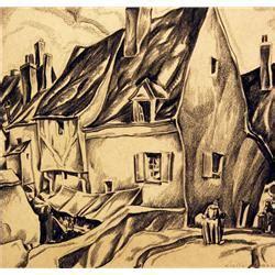 John Liello | john liello drawing quot rue de pont pigy provins quot