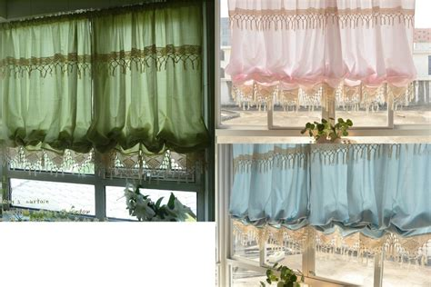 balloon curtains for kitchen blue pink green balloon shade austrian cafe kitchen